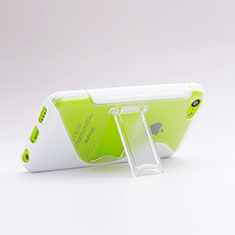 Housse Silicone Transparente Vague S-Line avec Bequille pour Apple iPhone 5C Blanc