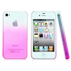 Housse Transparente Rigide Degrade pour Apple iPhone 4 Rose