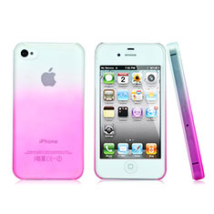 Housse Transparente Rigide Degrade pour Apple iPhone 4S Rose