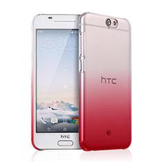 Housse Transparente Rigide Degrade pour HTC One A9 Rouge