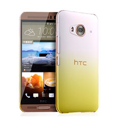 Housse Transparente Rigide Degrade pour HTC One Me Jaune