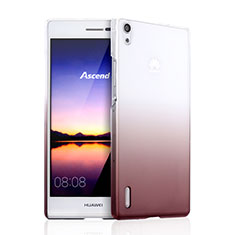 Housse Transparente Rigide Degrade pour Huawei Ascend P7 Marron