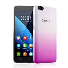 Housse Transparente Rigide Degrade pour Huawei Honor 4X Violet