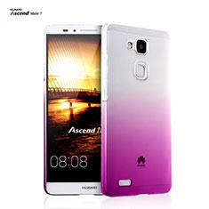 Housse Transparente Rigide Degrade pour Huawei Mate 7 Rose Rouge