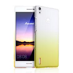 Housse Transparente Rigide Degrade pour Huawei P7 Dual SIM Jaune