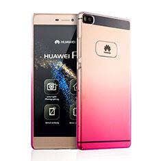 Housse Transparente Rigide Degrade pour Huawei P8 Rose