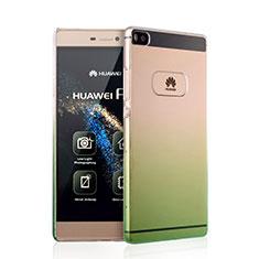 Housse Transparente Rigide Degrade pour Huawei P8 Vert