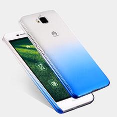 Housse Transparente Rigide Degrade pour Huawei Y6 Pro Bleu