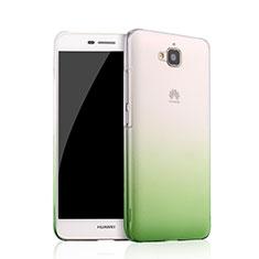 Housse Transparente Rigide Degrade pour Huawei Y6 Pro Vert