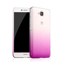 Housse Transparente Rigide Degrade pour Huawei Y6 Pro Violet