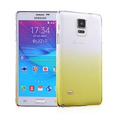 Housse Transparente Rigide Degrade pour Samsung Galaxy Note 4 SM-N910F Jaune