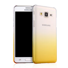 Housse Transparente Rigide Degrade pour Samsung Galaxy On5 G550FY Jaune