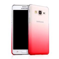 Housse Transparente Rigide Degrade pour Samsung Galaxy On5 G550FY Rouge