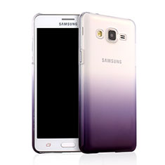 Housse Transparente Rigide Degrade pour Samsung Galaxy On5 G550FY Violet