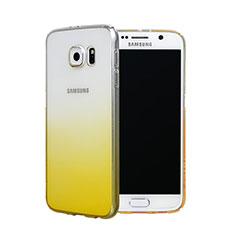 Housse Transparente Rigide Degrade pour Samsung Galaxy S6 Duos SM-G920F G9200 Jaune