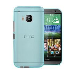 Housse Ultra Fine Mat Rigide Transparente pour HTC One M9 Bleu Ciel