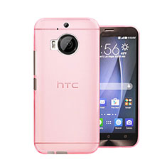 Housse Ultra Fine Mat Rigide Transparente pour HTC One M9 Plus Rose