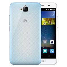 Housse Ultra Fine Mat Rigide Transparente pour Huawei Enjoy 5 Bleu