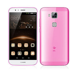 Housse Ultra Fine Mat Rigide Transparente pour Huawei G7 Plus Rose