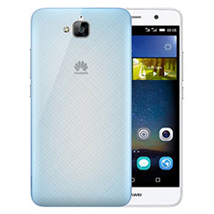 Housse Ultra Fine Mat Rigide Transparente pour Huawei Y6 Pro Bleu