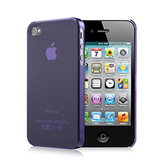 Housse Ultra Fine Silicone Souple Transparente Mat pour Apple iPhone 4S Violet
