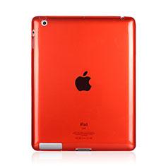 Housse Ultra Fine Silicone Souple Transparente pour Apple iPad 3 Rouge