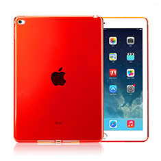Housse Ultra Fine Silicone Souple Transparente pour Apple iPad Air 2 Rouge