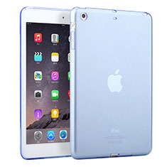 Housse Ultra Fine Silicone Souple Transparente pour Apple iPad Mini 3 Bleu Ciel