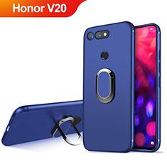 Housse Ultra Fine TPU Souple avec Support Bague Anneau Aimante Magnetique pour Huawei Honor View 20 Bleu