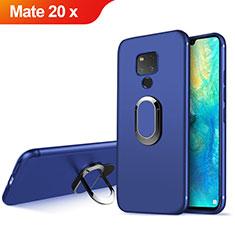 Housse Ultra Fine TPU Souple avec Support Bague Anneau Aimante Magnetique pour Huawei Mate 20 X Bleu