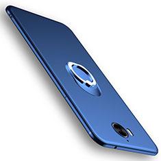 Housse Ultra Fine TPU Souple avec Support Bague Anneau pour Huawei Y6 (2017) Bleu