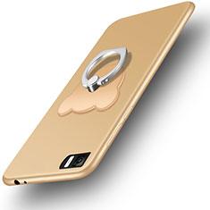 Housse Ultra Fine TPU Souple et Support Bague Anneau pour Xiaomi Mi 3 Or