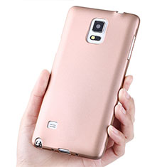 Housse Ultra Fine TPU Souple S02 pour Samsung Galaxy Note 4 Duos N9100 Dual SIM Or Rose