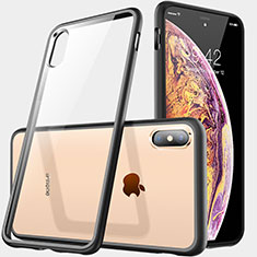 Housse Ultra Fine TPU Souple Transparente C06 pour Apple iPhone X Noir