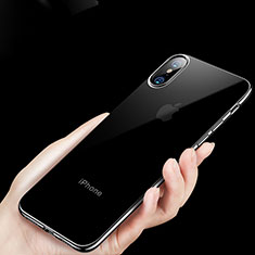 Housse Ultra Fine TPU Souple Transparente C11 pour Apple iPhone X Noir