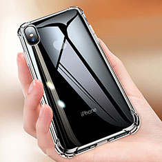 Housse Ultra Fine TPU Souple Transparente C15 pour Apple iPhone Xs Noir