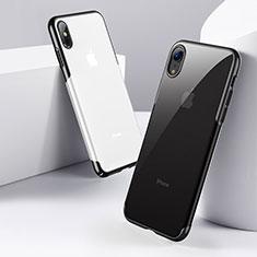 Housse Ultra Fine TPU Souple Transparente C16 pour Apple iPhone Xs Noir