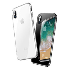 Housse Ultra Fine TPU Souple Transparente C18 pour Apple iPhone X Clair