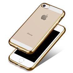 Housse Ultra Fine TPU Souple Transparente H01 pour Apple iPhone 5S Or