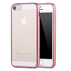 Housse Ultra Fine TPU Souple Transparente H03 pour Apple iPhone 5 Rose