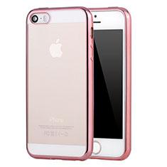 Housse Ultra Fine TPU Souple Transparente H03 pour Apple iPhone 5S Rose