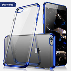 Housse Ultra Fine TPU Souple Transparente H03 pour Apple iPhone 6S Plus Bleu