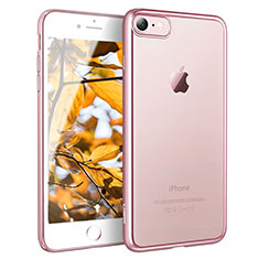 Housse Ultra Fine TPU Souple Transparente H11 pour Apple iPhone 8 Or Rose