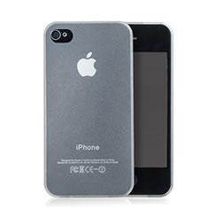 Housse Ultra Fine TPU Souple Transparente Mat pour Apple iPhone 4 Blanc