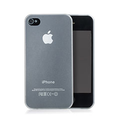 Housse Ultra Fine TPU Souple Transparente Mat pour Apple iPhone 4S Blanc