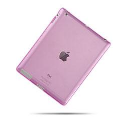 Housse Ultra Fine TPU Souple Transparente pour Apple iPad 4 Rose