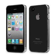 Housse Ultra Fine TPU Souple Transparente pour Apple iPhone 4 Gris