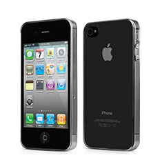 Housse Ultra Fine TPU Souple Transparente pour Apple iPhone 4S Gris