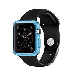 Housse Ultra Fine TPU Souple Transparente pour Apple iWatch 3 38mm Bleu