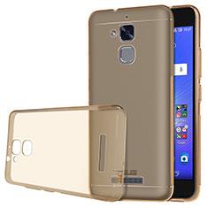 Housse Ultra Fine TPU Souple Transparente pour Asus Zenfone 3 Max Or